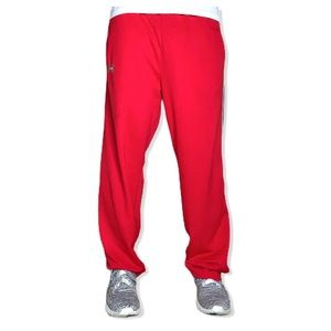 Under Armour Red & Black Logo Sweatpants
